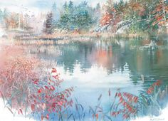 Ancient Waters Giclee by Nita Engle