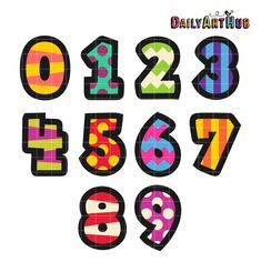 Monster numbers clipart | Mygrafico Teachers and School ...