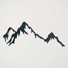 This Mountain Range is sure to add character to any space in your home! Metal artwork gives a modern yet rustic feel, making a great addition to any space. Metal Artwork, Metal Wall Art, Mountain Drawing, Black White Gold, Art Mural, Rustic Feel, Pyrography, String Art, Metal Signs