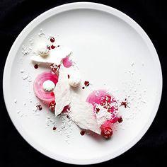 """""""Raspberry gelee, white chocolate truffles, vanilla meringue, coconut"""" by @whistler_personalchef #GourmetArtistry -------------------------------------------------- #dessert #desserts #dessertporn #dessertgasm #pastry #pastrychef #sweets"""