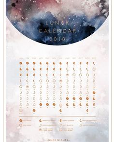 {DESIGN WORK} Im a bit in love with this little piece! A downloadable 2018 moon calendar for the beautiful Lunar Nights @jordannalevin . You can download it now over on Jordannas page http://ift.tt/2BaZ7vq