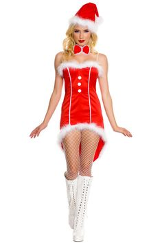 e2ec8bdb0ce Details about Red Christmas Santa Tuxedo Costume Lingerie Role Play One Size  7239