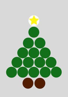 Christmas Tree Pull-Apart Cupcake Cake Templates