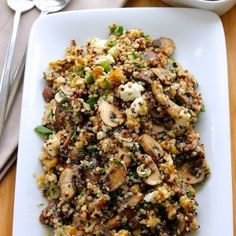 Quinoa-with-Mushrooms-and-Scallions