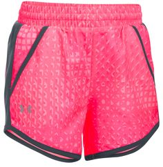 Girls Under Armour Fly By Novelty Shorts in Pink & Gray Size Small NWT #Underarmour