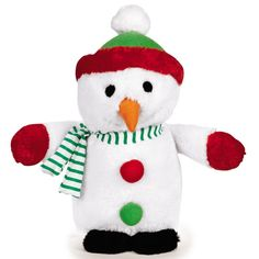 Zanies Dog Toys Snowman Pet Accessories Dog Supplies Holiday Song Christmas New #Zanies