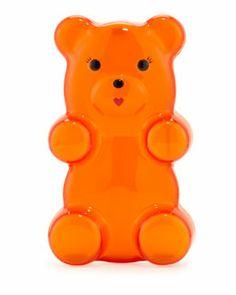 Charlotte Olympia Gummi Bear Acrylic Clutch Bag, Orange