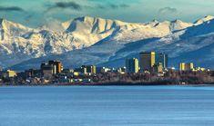 geleiras polares - Alasca- O aeroporto é a principal porta de entrada internacional de transporte aéreo no país, em peso. Ao lado de Ted Stevens Anchorage International Airport, fica o Lago Seaplane Hood, a maior base. Google