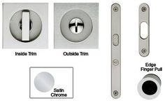 Valli & Valli Pocket Door Privacy Latch