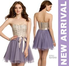 Camille La Vie short dress in lilac for homecoming, sweet sixteens and many other parties