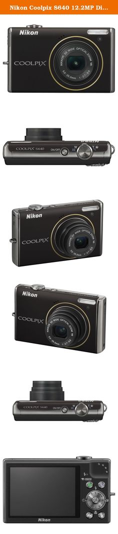 Nikon Coolpix S640 12.2MP Digital Camera with 5x Wide Angle Optical Vibration Reduction (VR) Zoom and 2.7-inch LCD (Calm Black). The Coolpix S640 ultra-fast autofocus helps you capture once-in-alifetime expressions with just the right timing. Tie these features together with the fastest start-up time* of only 0.7 seconds, and you have a powerful photographic tool that lets you beautifully preserve lifes fleeting moments. Coolpix S640 Digital Camera Rechargeable Li-ion Battery EN-EL12...