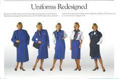 Airlines Past & Present: KLM Royal Dutch Airlines Royal/Business/Tourist Class & Vintage Stewardess Flight Attendant Uniform