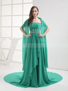 Shawls for evening dresses Green Evening Gowns 3afe75bbeae2