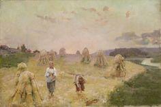 Aukusti Uotila (1858-1886), Harvest Folk - Eloleikkuuväkeä,1883 – oil on canvas