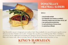 Donatella's Famous Meatball Sliders #football #BudLightHotel #gameday #DonatellaArpaia #NewYork  #StarringRoll Appetizer Recipes, Appetizers, Meatball Sliders, Hawaiian Sweet Rolls, Kings Hawaiian, Game Day Food, Wrap Sandwiches, Dinner Rolls, House Party