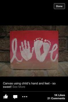 Foot/Hand Print Idea