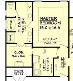 Merveilleux Master Bedroom And Bath Plan