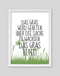 Originaldruck - Das Gras Bitte! /  Druck von whiterabbit - ein Designerstück von whiterabbit-design bei DaWanda