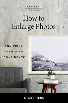 Whether you need to blow up old photos or enlarge a digital image, here& how to turn the little moments you hold close into the not-so-little prints you display proudly — without losing quality.