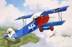 Fokker DVII of Rudolf Berthold