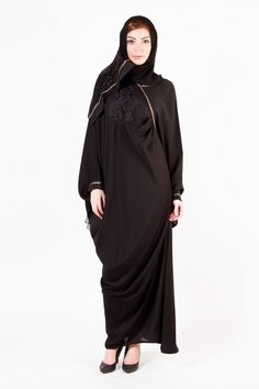 New Arabic Designer Abayas & Modern Gowns designs with Hiab Collection 2015-2016 for Women (4)