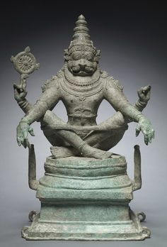 Yoga Narasimha = Vishnu in His Man-Lion Avatar