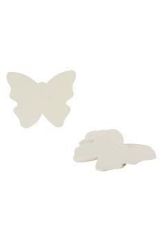 100 étiquettes papillons ivoire - Tati