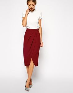 ASOS Drape Tulip Pencil Skirt