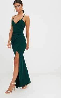 Dresses […] The post Emerald Green Wrap Front Crepe Maxi Dress appeared first on How To Be Trendy. Short Beach Dresses, Hoco Dresses, Evening Dresses, Sexy Dresses, Party Dresses, Vestidos Color Verde Esmeralda, Lavender Bridesmaid Dresses, Emerald Green Dresses, Green Ball Dresses