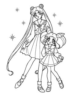 Coloring Free Printable Sailor Moon Pages For Kids On Earth And Printout Page Enchantedlearning