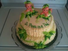 My sister's baby shower cake for the twins :)
