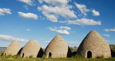 Camp under the stars by the massive abandoned Ward Charcoal Ovens