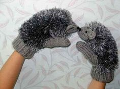 Hedgehog Gloves ~ now these are mittens I'd wear, if Ernie didn't get his paws on them first :-)
