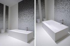 Sartoriale bathtub by Antonio Lupi, mosaic