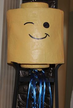 LEGO HEAD Piñata and Lego Head Tshirt by Pleasantvalleyprims, $50.00