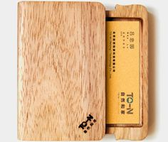 Wooden business card holder by mgb business card holders business wooden biz name card case colourmoves