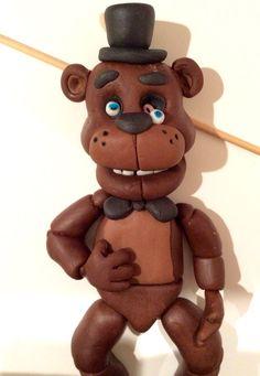 Fondant teddy  Five nights at Freddy's
