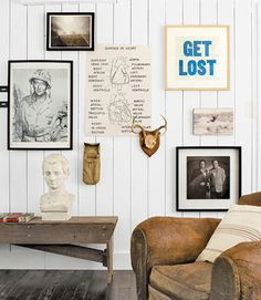 Eclectic Gallery Wall With Vintage Posters