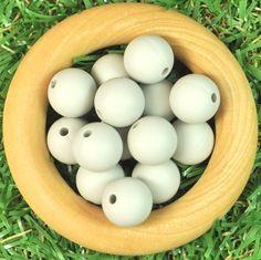 Round 12mm Silicone Bead 20pk -Cool Grey - Silicone Beads Australia™