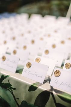 Wax Seal Escort Cards | photography by http://www.weber-photography.com/