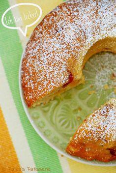 Pfirsich Mandel #Cheesecake #Gugelhupf #peach #almonds