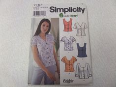 2002 Dart-Fit Sweetheart Neck Blouse Pattern by WhiletheCatNaps