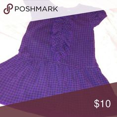 Little Girls Dress American Living by Ralph Lauren, Purple and Black, Ruffles down the front American Living Dresses Casual
