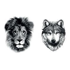LION & WOLF TATTOOS on http://dcer.eu