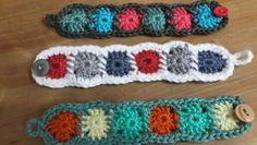 Pulseras crochet
