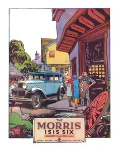 https://flic.kr/p/pGTwft | 1930 Morris Isis Six ad | Illustration by RS Pike.