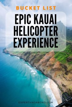 Dont visit Kauai without going on a helicopter tour of the Na Pali coast! Here are some tips for having a great experience. #Hawaii #UnitedStates #USA #NorthAmerica #Adventure #Travel #Inspiration