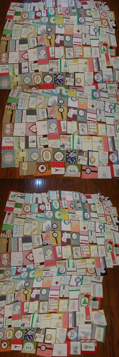 Greeting Cards and Gift Tags 146324: 115 Stampin Up Handmade Cards And Card Fronts (115 Total) -> BUY IT NOW ONLY: $57.99 on eBay!