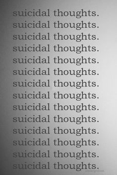It's really bad tonight. For no real reason out of how I normally am, I'm extremely suicidal.