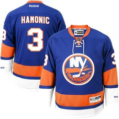 Travis Hamonic New York Islanders Reebok Premier Player Jersey - Royal Blue 7c320b897